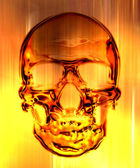 Skull in on the fire background — Stock Photo