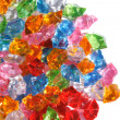 Color plastic diamonds — Stock Photo