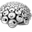 Empty beer cans — Stock Photo