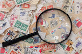 Postage stamps collection — Stock Photo