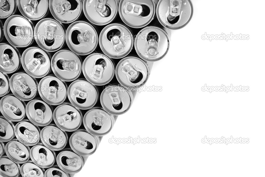 Empty cans isolated on the white background  Stock Photo #5525119