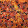 Pizza background — Stock Photo