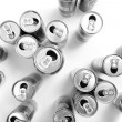 Stock Photo: Empty cans