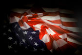 Usa flag in the dark night — Stock Photo