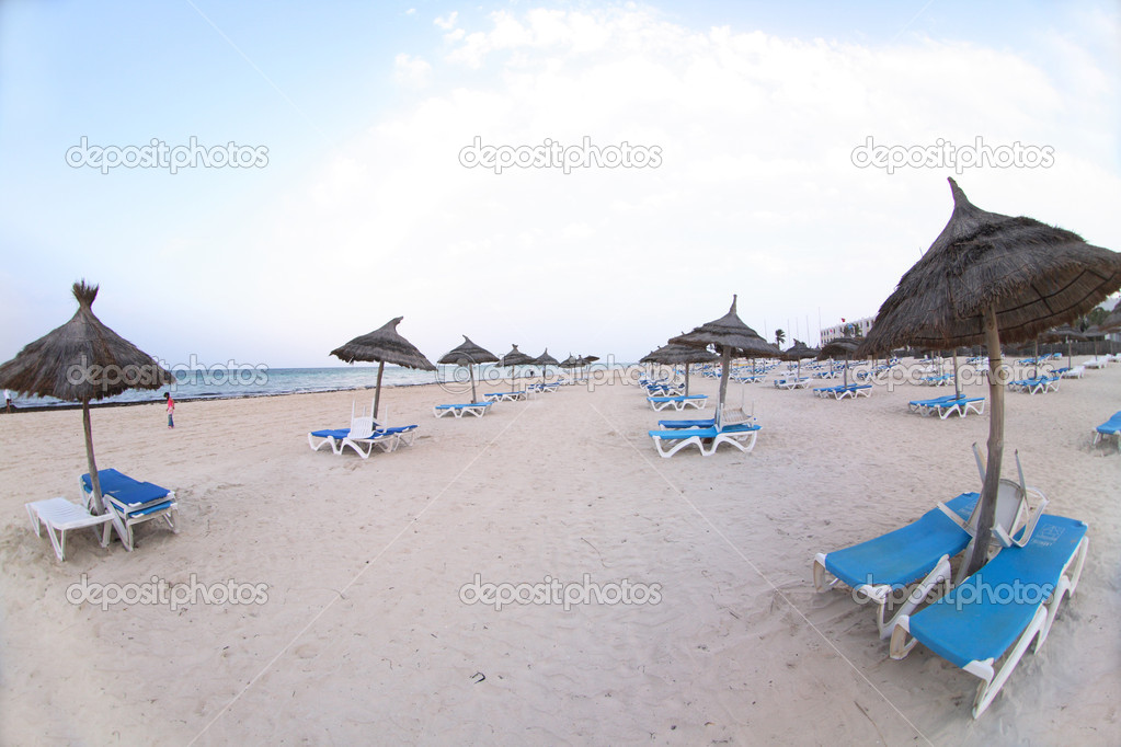 Beach  in the tunisian hotel in africa — Stock Photo #5610109