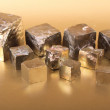 Stock Photo: Golden cubes