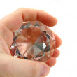 Stock Photo: Diamond in hand