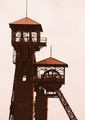 Old mine tower — Stock Photo