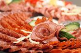 Salami rose — Stock Photo