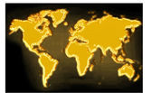 Gold map — Stock Photo