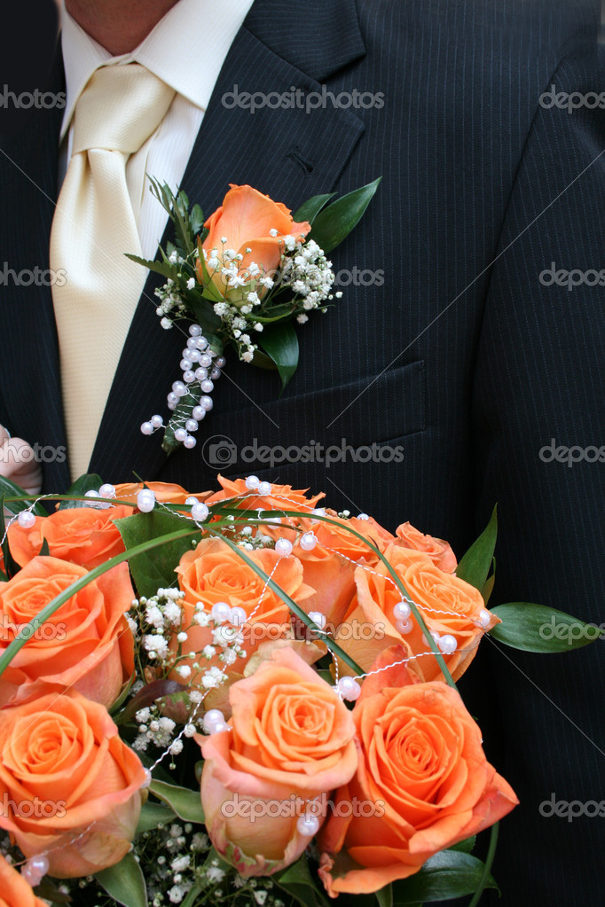 Very romantic wedding background with the flowers — Stock Photo #5622875