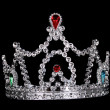 Crown on black background - Stock Photo