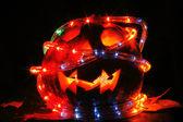 Halloween pumpkin in the dark night — 图库照片