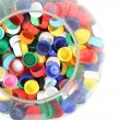 Plastic caps — Stock Photo