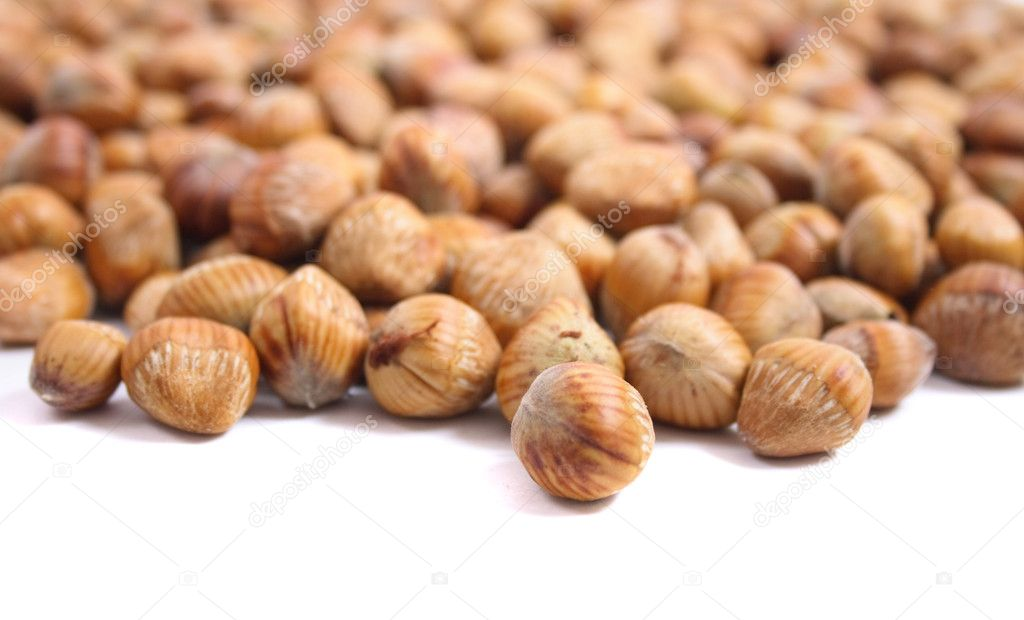 Fresh and natural nuts background from czech nuts — Stock Photo #6120521