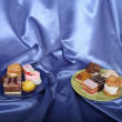 Stock Photo: Selection of sweet deserts on plate