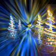 Christmas forest from the color lights — Stock Photo #6233111