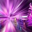 Christmas forest from the color lights — Stock Photo #6233132