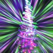 Christmas tree from the color lights - Photo