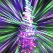 Christmas tree from the color lights - Zdjęcie stockowe