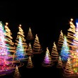 Christmas forest from the color lights - Photo
