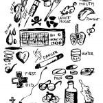 Health icons — Stock Photo