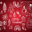Christmas objects  — Imagen vectorial