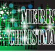Green merry christmas background  — Image vectorielle