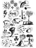 Iconos del tiempo — Vector de stock