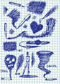 Hand drawn creativity graphics — Stock Vector