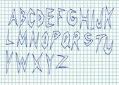 оригинальный ручной обращается алфавит — Cтоковый вектор