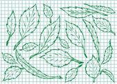 Fond de feuille — Vecteur