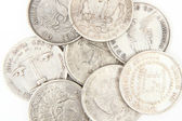 Old silver dollars — Stock Photo