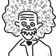 Einstein head - Stock Vector