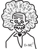 Einstein head — Stock Vector
