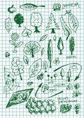 Eco bio and nature symbols — Stock Vector
