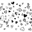 Stock Vector: Hand drawn hearts