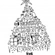 Royalty-Free Stock Vector Image: Hand drawn christmas tree