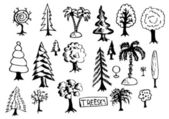 Hand drawn treeses — Stock Vector