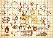 Empty chemistry icons — Stock Vector