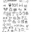 Stock Vector: Hand drawn hotel symbols