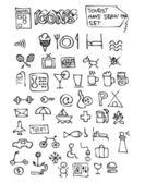 Hand drawn hotel symbols — Stock Vector