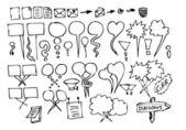 Hand drawn dialog icons — Stock Vector