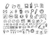 Hand gezeichneten computer symbole — Stockvektor