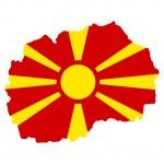 Macedonia flag on map — Stock Photo #5392574