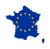 EU flag on France map — Stock Photo