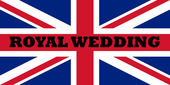 Royal wedding flag — Stock Photo