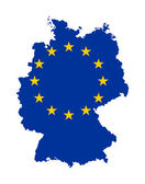 EU flag on map of Germany — Stock Photo