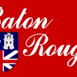 Baton Rouge flag — Stock Photo