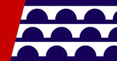 Des Moines city flag — Stock Photo